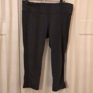 Gray Workout Capri Legging